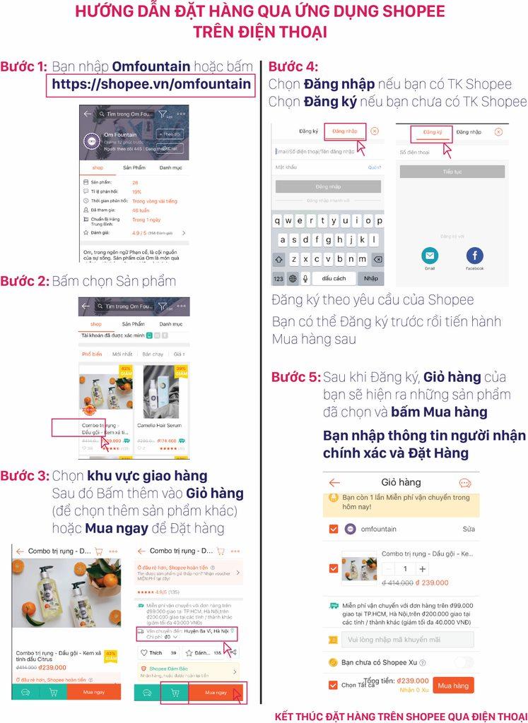 Hướng dẫn đặt hàng tại Shopee qua Shopee App trên điện thoại